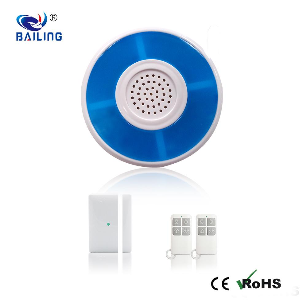 Backup battery wireless strobe alarm siren security alarm system siren for home