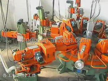 Stainless steel multistation utensils polishing machine