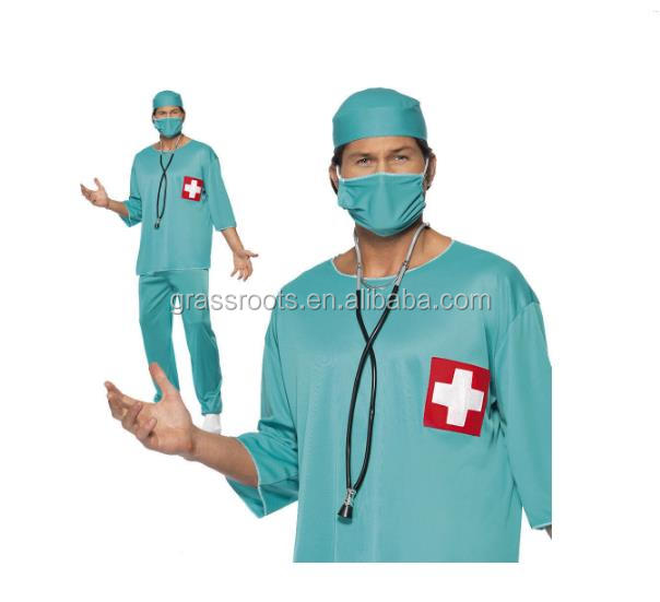 2016 Guangdong Adult Surgeon Fancy Dress Costume Scrubs Doctor Hospital Uniform Stag Night