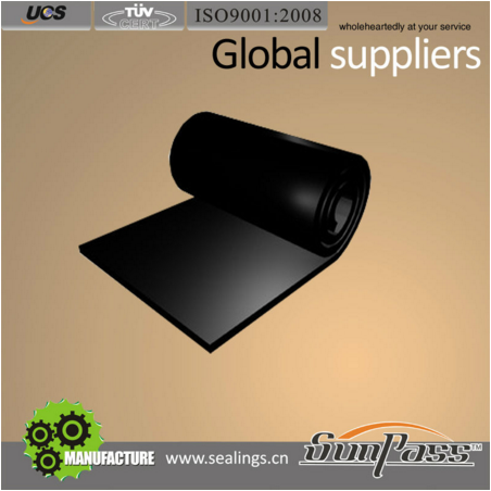 Corrosion Resistance Black Rubber Sheet
