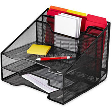 Wholesale High Quality Factory Price Black Foldable Metal Wire Mesh Office Desk File Organizer