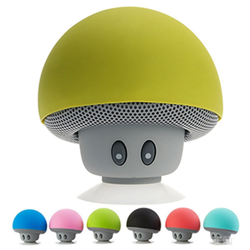 2016 high quality mini Portable cute mushroom bluetooth speaker