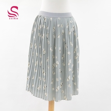 Latest long skirt design sexy fashion ladies pleated skirts