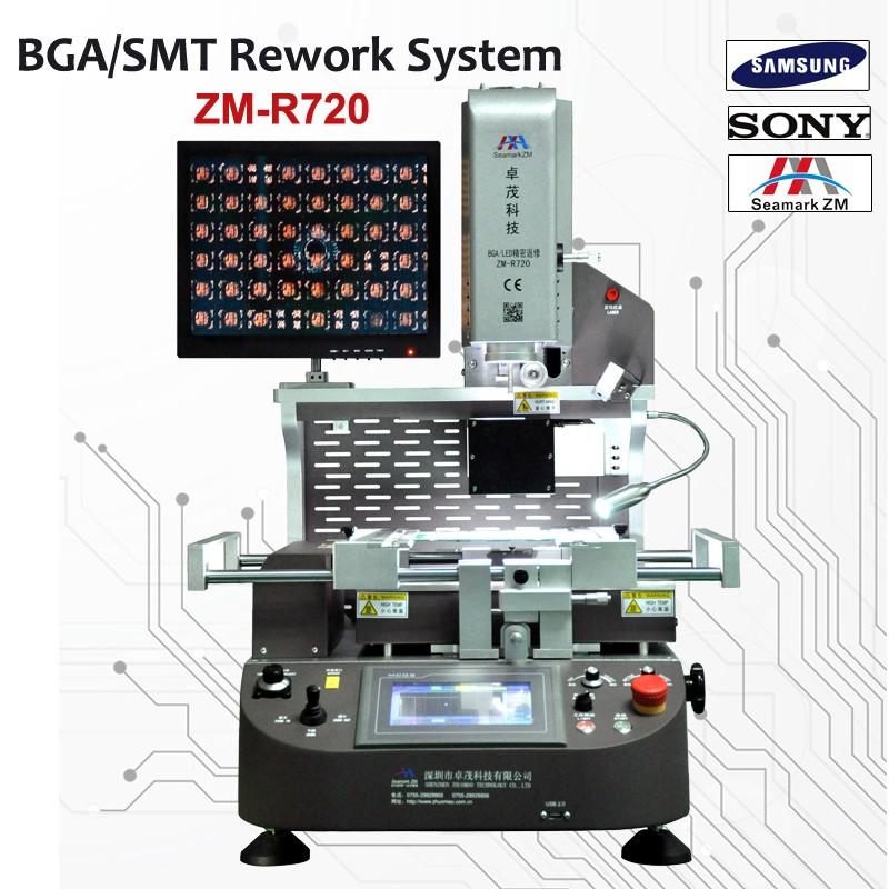 hot air smt/smd bga rework soldering station ZM-720 BGA led chips replace/repair