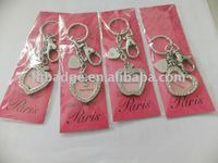Heart shpe Key chain with Diamonds Rhinestones