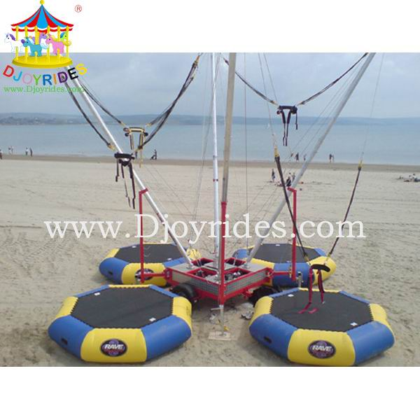 Kids bungee jumping equipment inflatable trampoline for sale