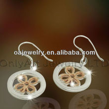 four leaf clover cheap fashion jewelry made in china new design dangle earring