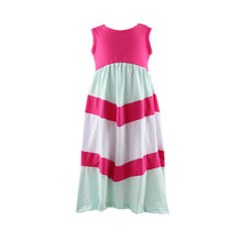 2017 Summer new design and hot sale sleeveless maxi girls dress montage dress for graceful girls
