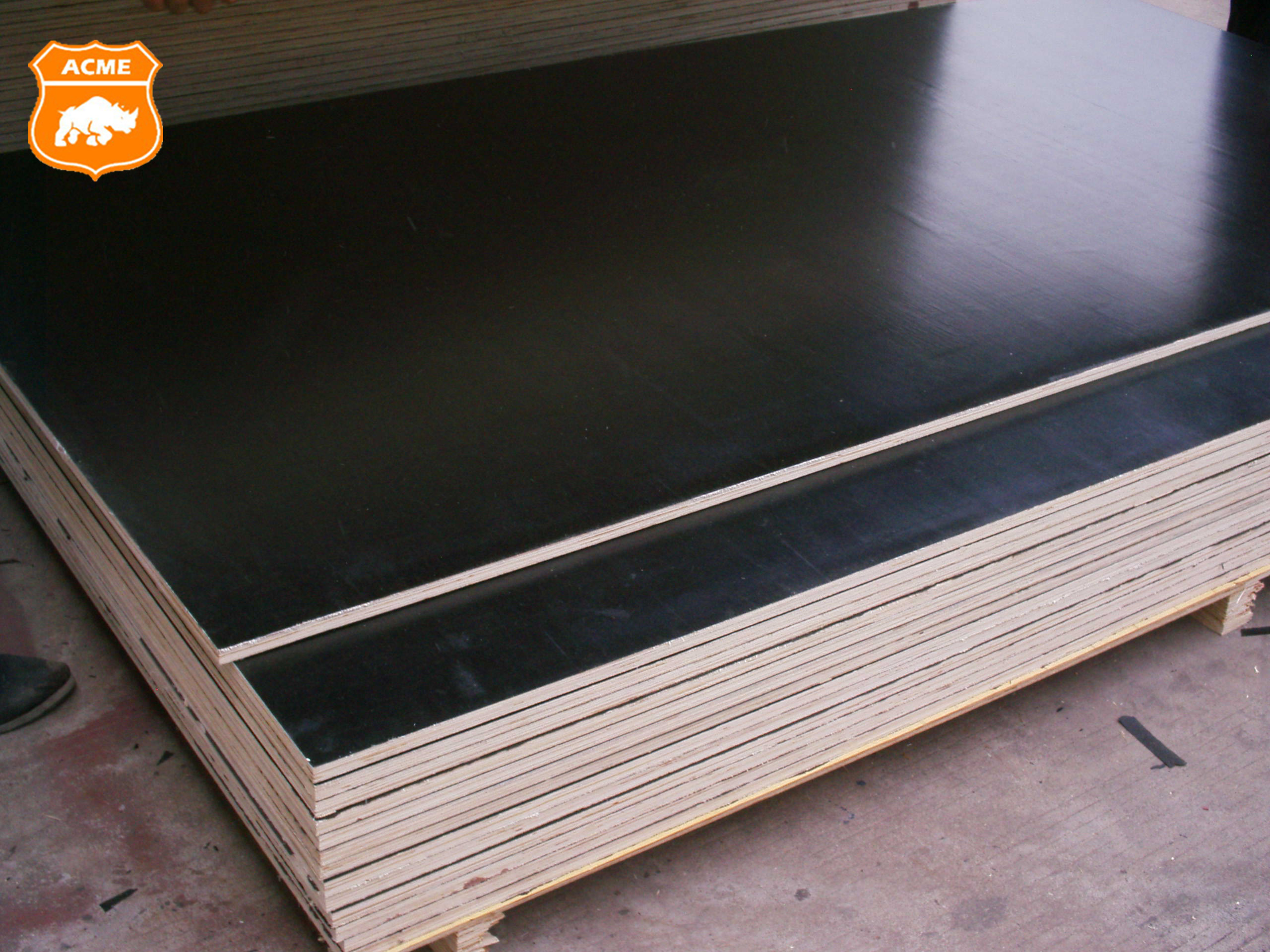 melamine paper faced black board plywood