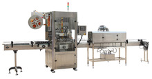 Full-auto shrink sleeve labeling machine for bottle, 2 head labeling machine