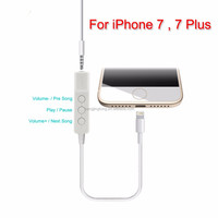 2016 newest mfi light-ning 3.5mm AUX cable, stereo audio adaptor converter kit for iPhone 7 7 plus