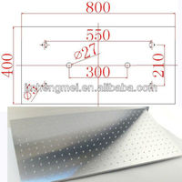 Hot Collections top shower brushed face 40cm*80cm led top shower head