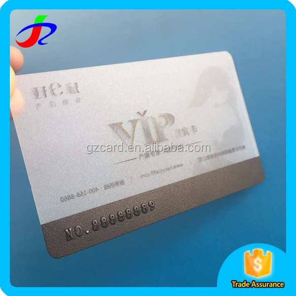 PVC/Transparent PVC Business Card with Personalized Information