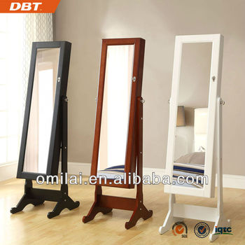 White Furniture mirror Jewellery Cabinet clothing mirror