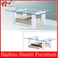 2014 high quality Classic Teak MDF Wood legged Coffee Table
