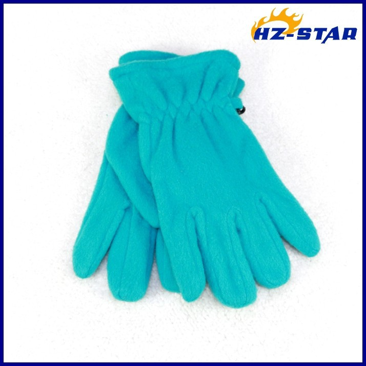 HZS-13217002 new design warm and cute fashion screen grey wholesale personalized winter colourful fleece gloves with pattern