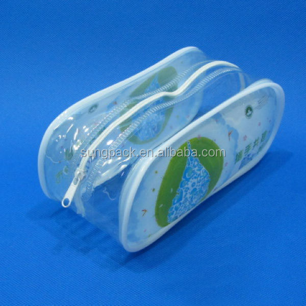 Clear plastic retail packaging with zipper promotional pvc waterproof bag