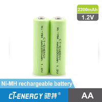 1.2V AA 2200mAh rechargeable battery