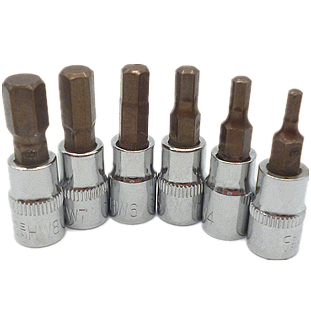 """SK Hand Tools 19737 7 pc Screwdriver Bit Socket Set 3//8"""" Dr"""