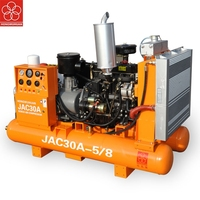 Chinese HONGWUHUAN JAC30A engineering diesel portable screw industrial air compressor with tank