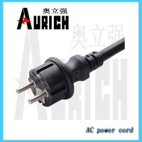 Schuko type plug 220v power plug for europe brass pin power cord