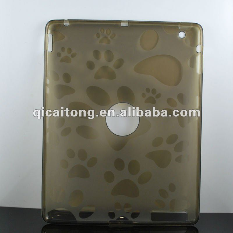 mobilephone case with foot viens for new ipad(ipad3)