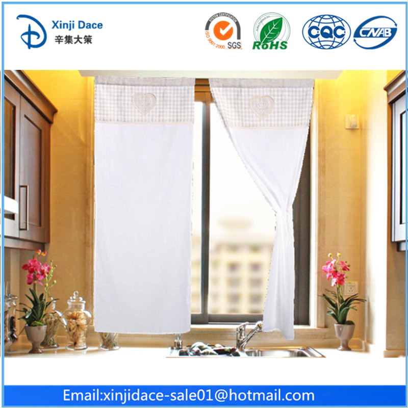 Fancy christmas kitchen window curtains patterns/crochet cotton curtains design for kitchen/kitchen beaded door curtains