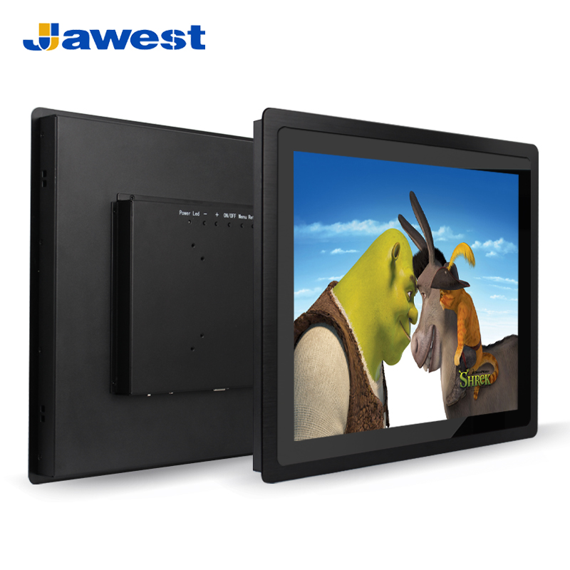 Front bezel 10mm ip65 waterproof 1000 nit industrial 15 inch touch screen lcd monitor with wifi