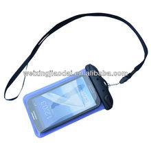 waterproof diving dry bag blue tpu with black lanyard for Sumsung note1/2