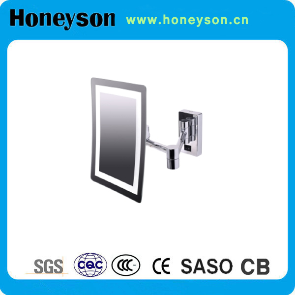 Honeyson Hotel Bathroom Wall Mount Movable Mirror Attached Light