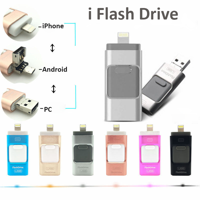 3 in 1 usb 3 flash drive 64 GB for iphone and android