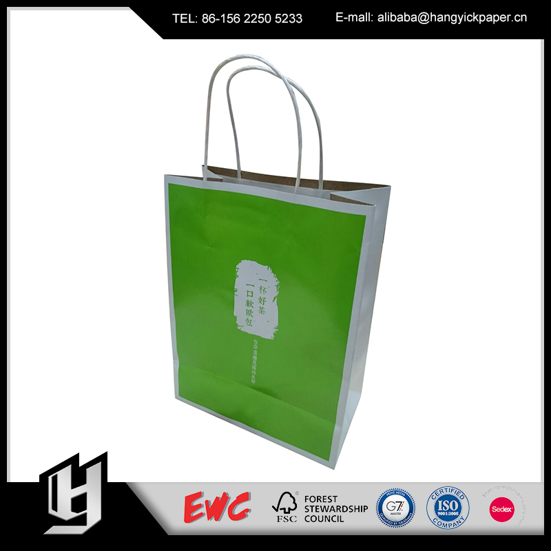 Hot Sale Recycleable custom printed personalised paper Shopping bags