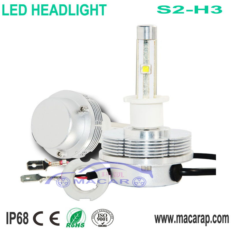 MACAR FACTORY supply fanless High Power Car headlight bulb Use H3 6V 15W