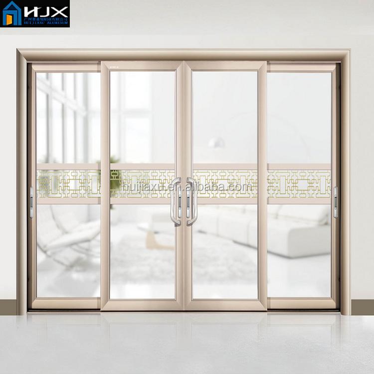 Price Of Aluminium Sliding Glass Door With Grill Design Aluminum