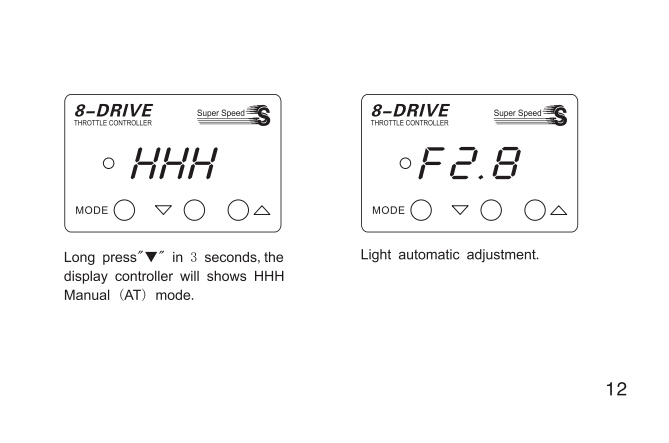Latest technology electronic throttle controller with 8-Drive