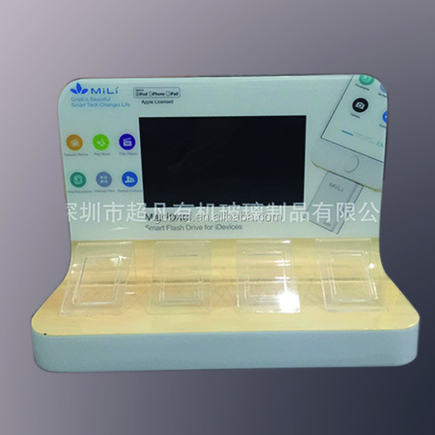 2016 hot sale OEM promotional acrylic blue tooth display stand