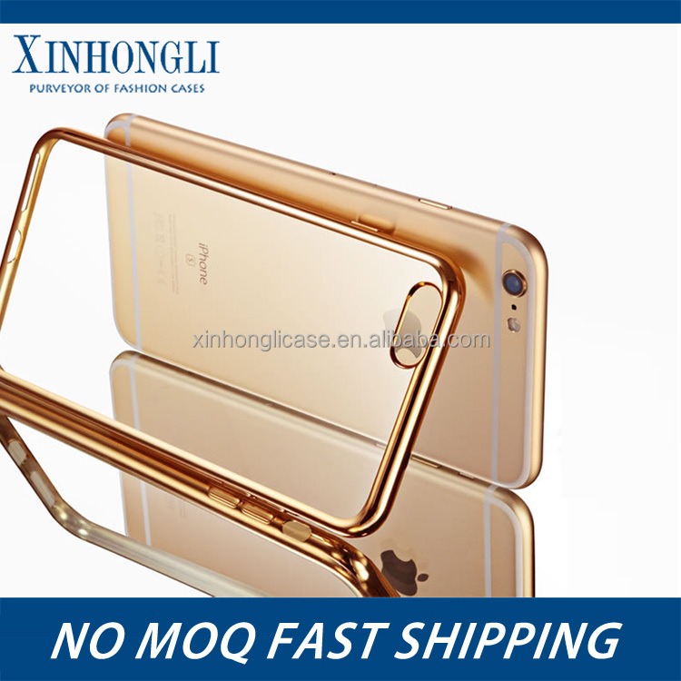 China price eletroplate soft silicon tpu case / mobile phone silicon case for iphone 6