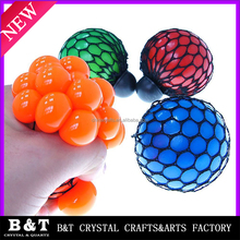 Mesh Squishy Balls Stress Relief Squeeze Grape Balls Relieve Pressure Balls