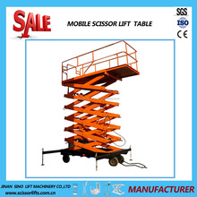 Mobile four wheels hydraulic lifter trailer mounted lift