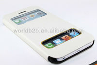 For Apple iPhone 5c mini Lite Stand Leather Case with windows