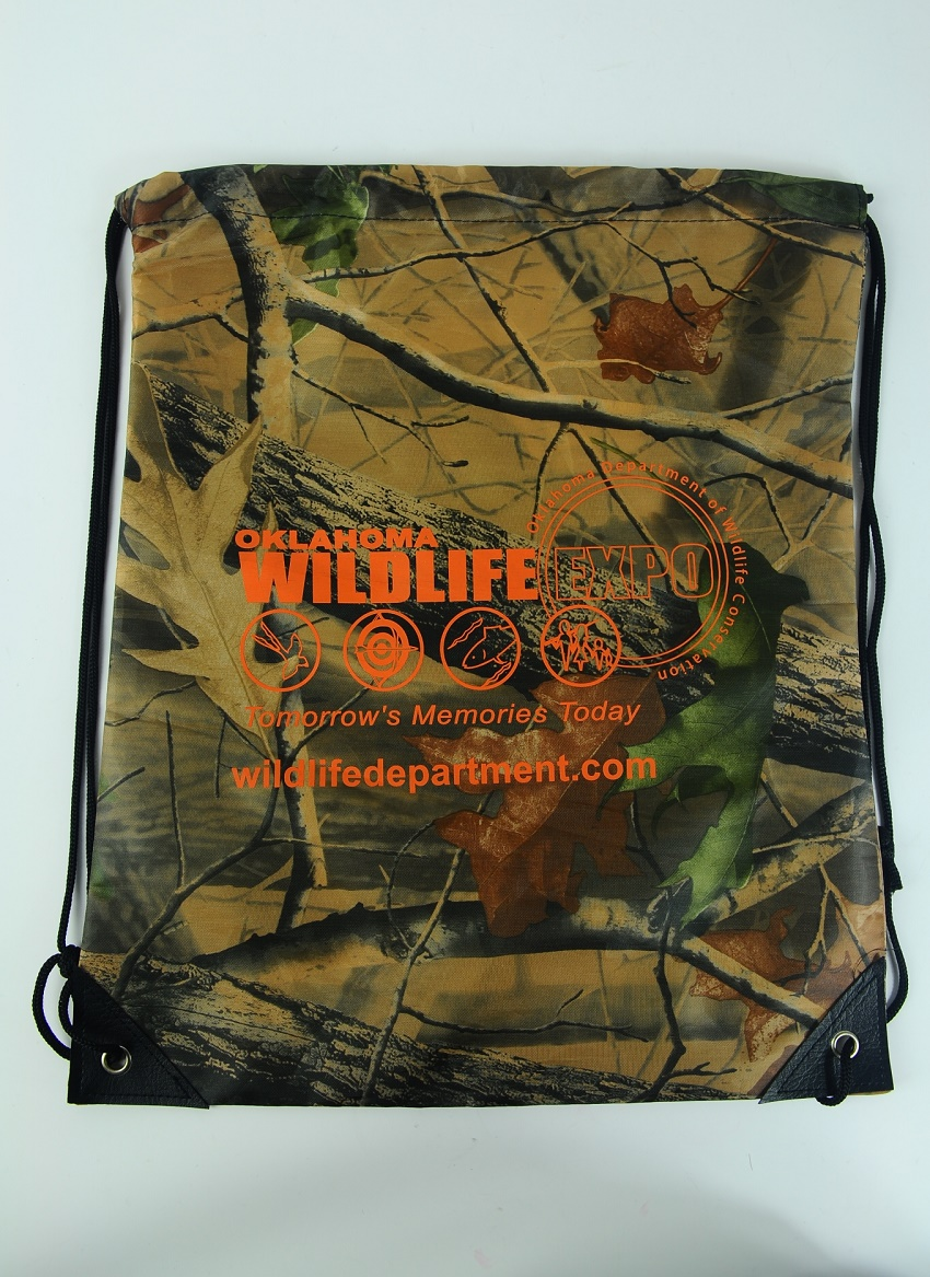 Promotional Price Camo Full Printing Custom Logo Drawstring Bag