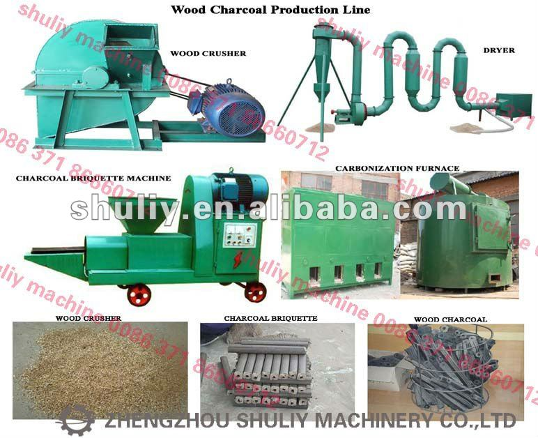 Automatic Coffee husk Wood charcoal production machines 0086-15238616350