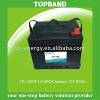 TOPBAND 12V 60Ah li ion battery