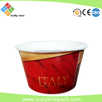 16oz ice cream paper cup with dome lid