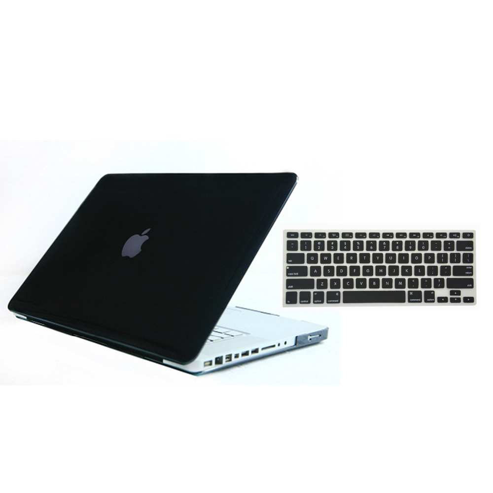 "Transparent Glossy Case with Matched Keyboard Skin for MacBook Pro 13"" A1278"