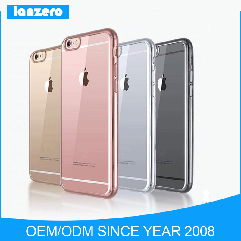 2017 Best Selling Soft TPU Electroplated Colorful Phone Case for iphone7