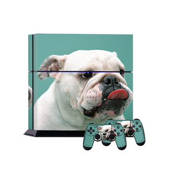 Cute dog custom Skin Sticker Cover for PS4 Console 2 Controller