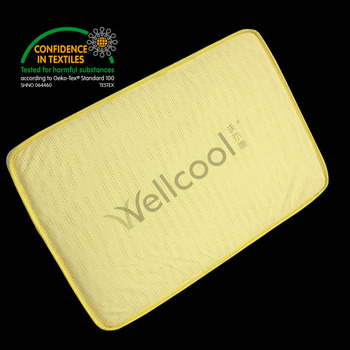yellow 3d spacer mesh fabric mattress