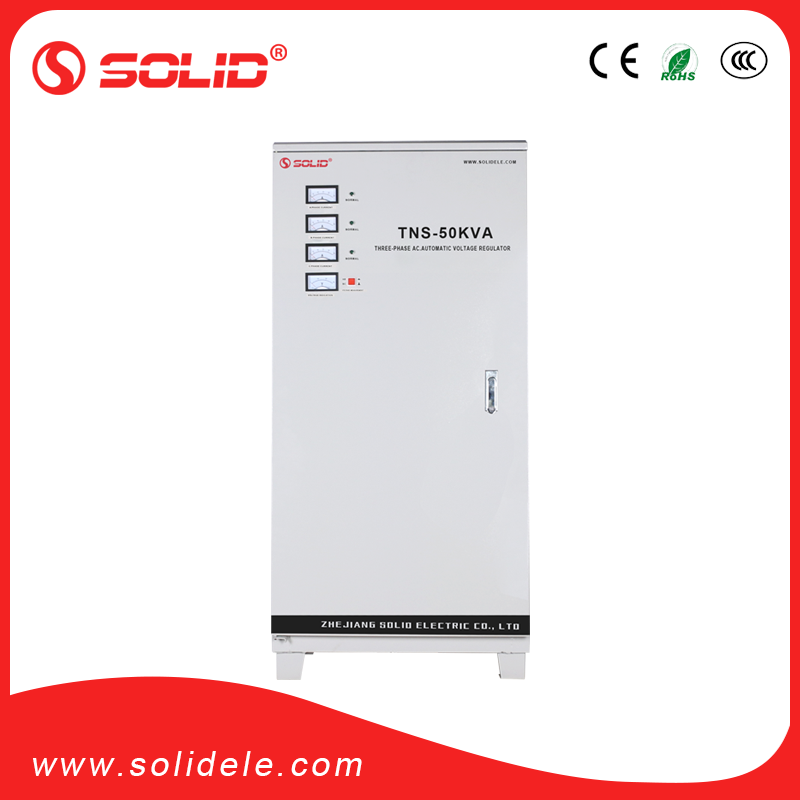 100% Pure copper coil Three Phase TNS 50kva voltage regulator 380v