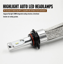 KSEGA High Power LED Headlight Bulb H7 80w 8000lm with modified and original Headlight assembly